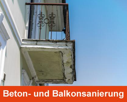 Schühle Leistungen Beton- und Balkonsanierung