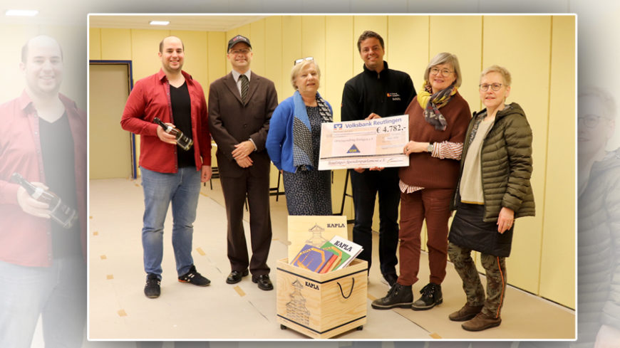 Spendenübergabe und Projektbesichtigung Ortsjugendring Eningen