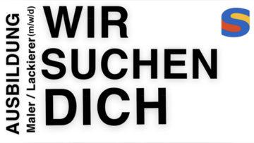 Freie Ausbildungsstellen Maler / Lackierer m/w/d