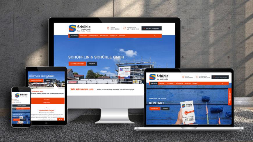 Neue Homepage der Schöpflin & Schühle GmbH Reutlingen und Ludwigsburg