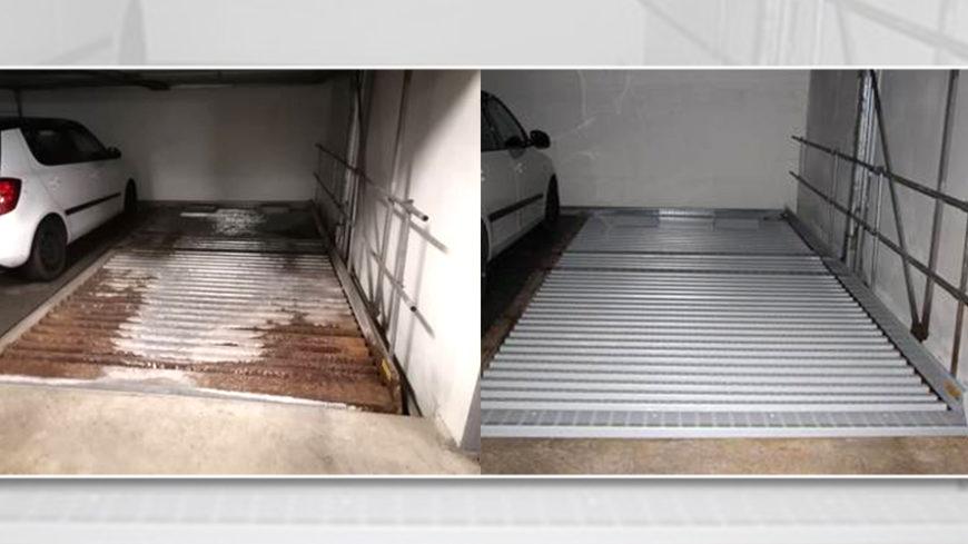 Verrostung und Versalzung - Renovierung Doppelparker